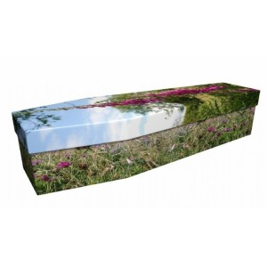 Wildflower Pasture - Floral Design Picture Coffin