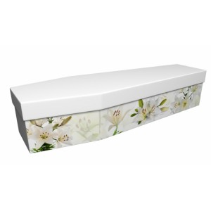 Lilies of the Orient - Floral Design Picture Coffin