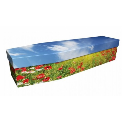 Lest We Forget (Poppies) - Floral Design Picture Coffin