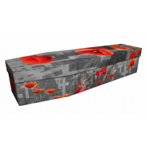 Always & Forever (Poppies) - Floral Design Picture Coffin