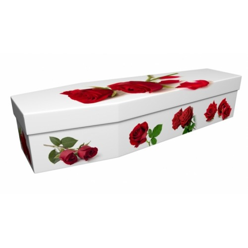 I Love You (Rose) - Floral Design Picture Coffin