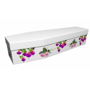 Essence of Nature (Fuchsia & Roses) - Floral Design Picture Coffin
