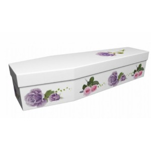 Serenity Rose - Floral Design Picture Coffin