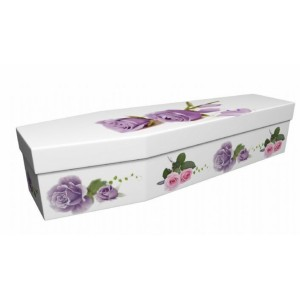 Dignity Rose - Floral Design Picture Coffin