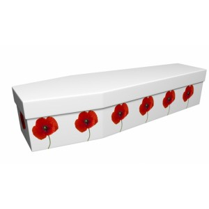 Tall Poppies - Floral Design Picture Coffin
