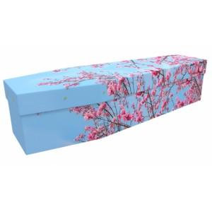 Hello March - Floral Design Picture Coffin