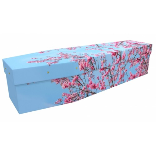 Hello March - Floral Design Picture Coffin