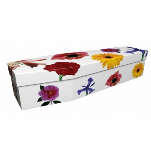 Summertime - Floral Design Picture Coffin