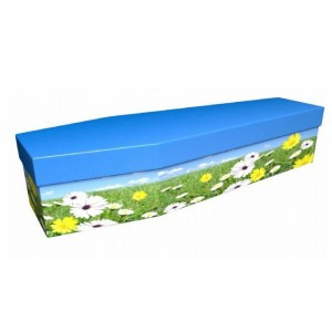Summertime Meadow - Floral Design Picture Coffin