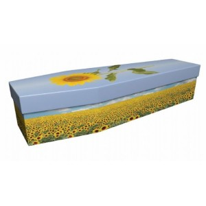 Summertime Sunflowers - Floral Design Picture Coffin