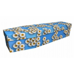 Innocence, Purity, True Love (Daisies) - Floral Design Picture Coffin