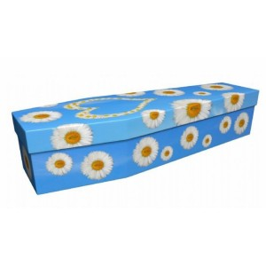 Daisy Heart - Floral Design Picture Coffin
