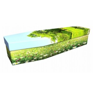 Among The Wildflowers - Floral Design Picture Coffin