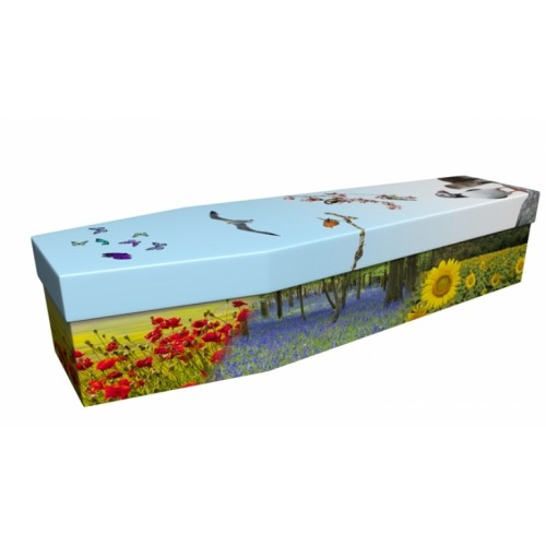 Seasonal Flowers & Wildlife - Floral Design Picture Coffin