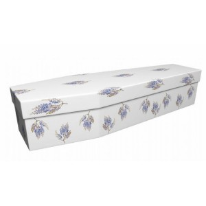 Wisteria Flowers - Floral Design Picture Coffin