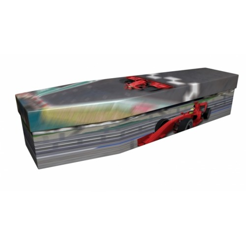 Formula One Racing – Sports & Hobbies Design Picture Coffin