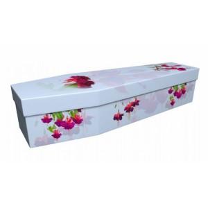 Fuchsia – Floral Design Picture Coffin