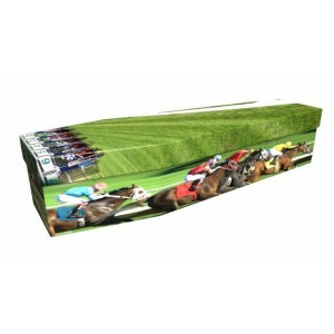 Horse Racing – Sports & Hobbies Design Picture Coffin