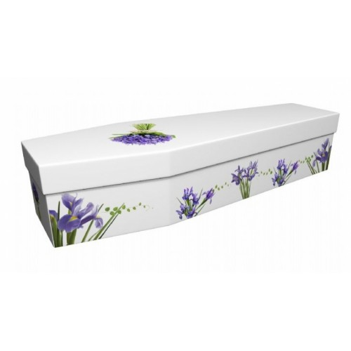 Iris – Floral Design Picture Coffin