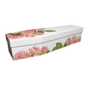 Pink Roses – Floral Design Picture Coffin