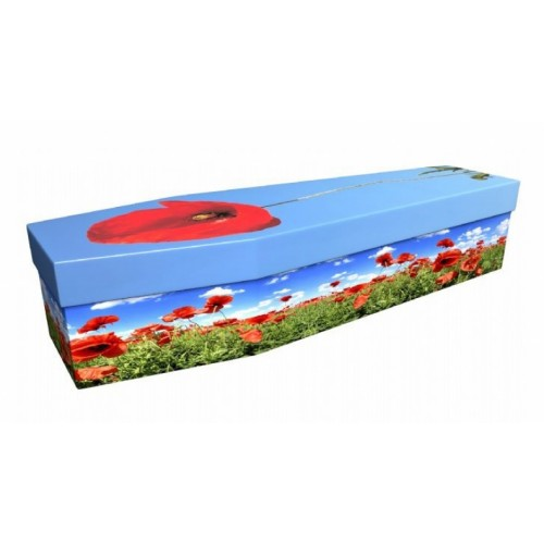 Poppy – Floral Design Picture Coffin
