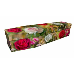 Rose Garden – Floral Design Picture Coffin