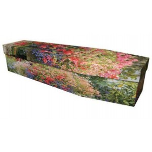 Garden in Full Bloom - Premium Cardboard Picture Coffin