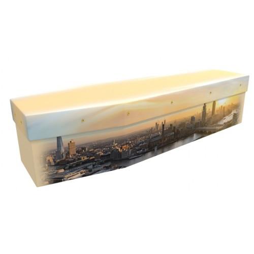 Panoramic London Sunset - Landscape / Scenic Design Picture Coffin
