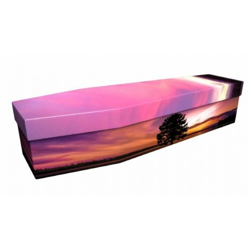 Red Sky At Night - Landscape / Scenic Design Picture Coffin
