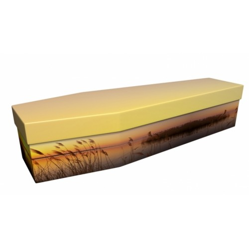 Peaceful Sunset - Landscape / Scenic Design Picture Coffin