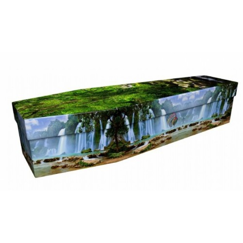 Panoramic Waterfall - Landscape / Scenic Design Picture Coffin