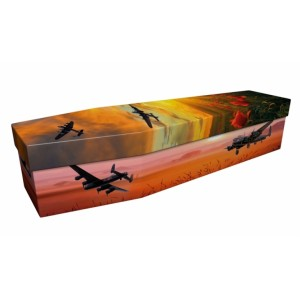 DAMBUTERS HEROES (Avro Lancaster Bomber) – Military & Patriotic Design Picture Coffin