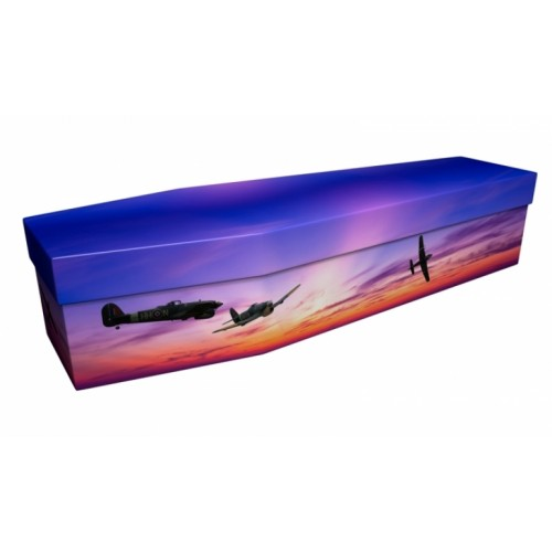 WHAT IF HEAVEN FALLS (RAF Hawker Typhoon) – Military & Patriotic Design Picture Coffin