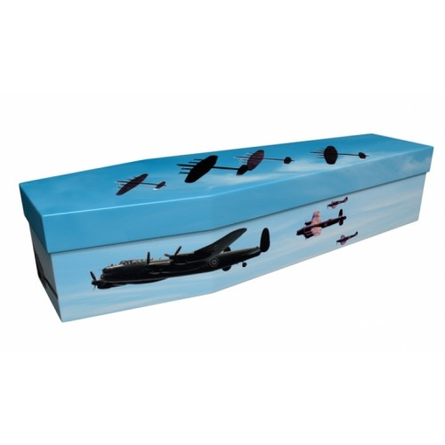 ONCE-IN-A-LIFETIME (Avro Lancaster Bomber) – Military & Patriotic Design Picture Coffin