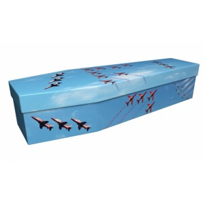 FAMOUS FORMATION (Red Arrows) – Military & Patriotic Design Picture Coffin
