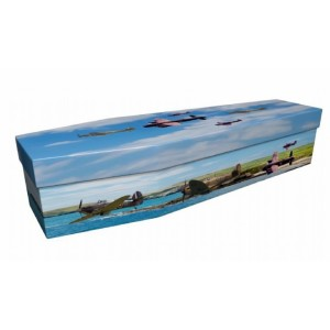 REACH FOR THE SKIES (RAF WWll) – Military & Patriotic Design Picture Coffin