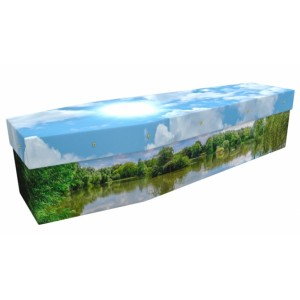 Countryside Lake - Sports & Hobbies Design Picture Coffin
