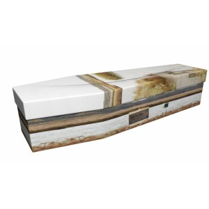 Gone Fly Fishing - Sports & Hobbies Design Picture Coffin