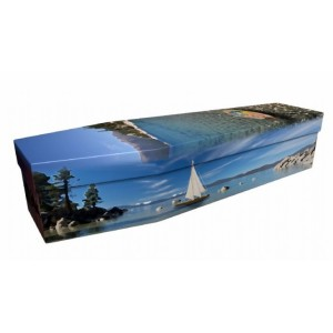 Sailing (Where Memories Are Made) - Sports & Hobbies Design Picture Coffin
