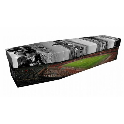 Welsh Rugby & Industrial Landscapes - Sports & Hobbies Design Picture Coffin