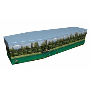 River Fishing - Sports & Hobbies Design Picture Coffin