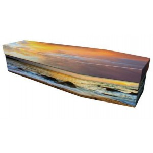 Ocean Sunset - Premium Cardboard Picture Coffin