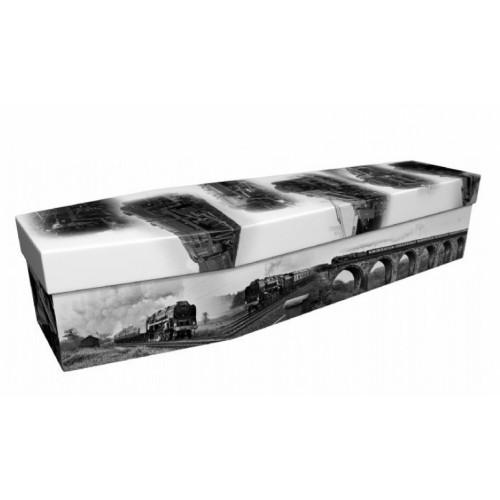 Steam Locomotive – Transport Design Picture Coffin