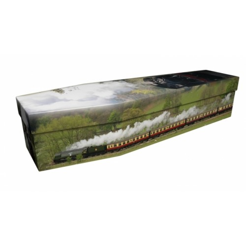 Steam Train – Transport Design Picture Coffin