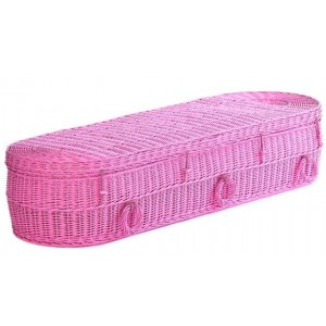 Your Colour - Wicker Imperial (Oval) Coffins - FUSCHIA PINK