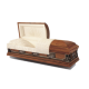 Pieta Last Supper (Hardwood) American Casket - High Gloss Pecan Stain