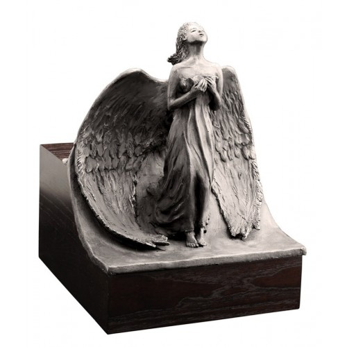 Unique Artistic Wooden Cremation Ashes Urn - The Angel – Steel  Plated