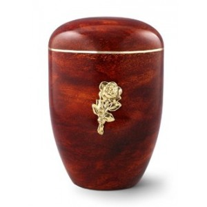 Biodegradable Rosewood Effect ( Rose Design) Cremation Ashes Urn