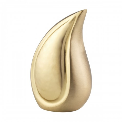 The Golden Teardrop Brass Cremation Ashes Urn