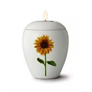 Floral Sunflower Design - Candle Holder Keepsake